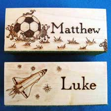 Football & Rocket Personalised Pencil Holders