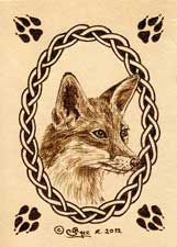 Fox Leather ACEO Artwork