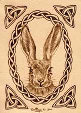 Hare Leather ACEO Artwork