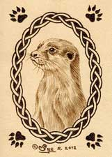 Otter Leather ACEO Artwork