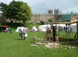 1000 Years of Traditional Crafts at Lincoln Castle Pole Lathe Turning
