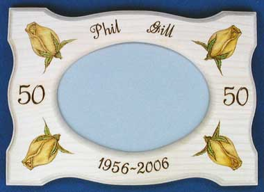 Golden Wedding Anniversary Frame